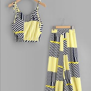 Tops - Adorable multi stripe Co-Ord Set